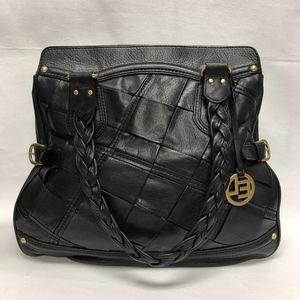 NEW Elliott Lucca Black Leather Large Purse